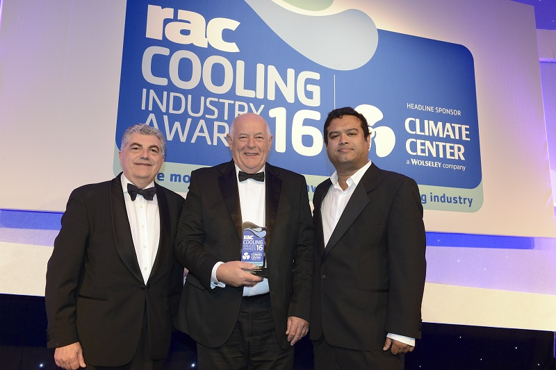 Winners of the RAC Cooling Awards Contractor of The Year 2016